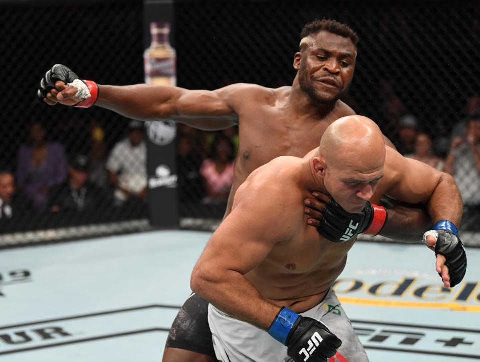Francis Ngannou faces Jairzinho Rozenstruik on the ESPN+ streaming UFC 249 PPV card