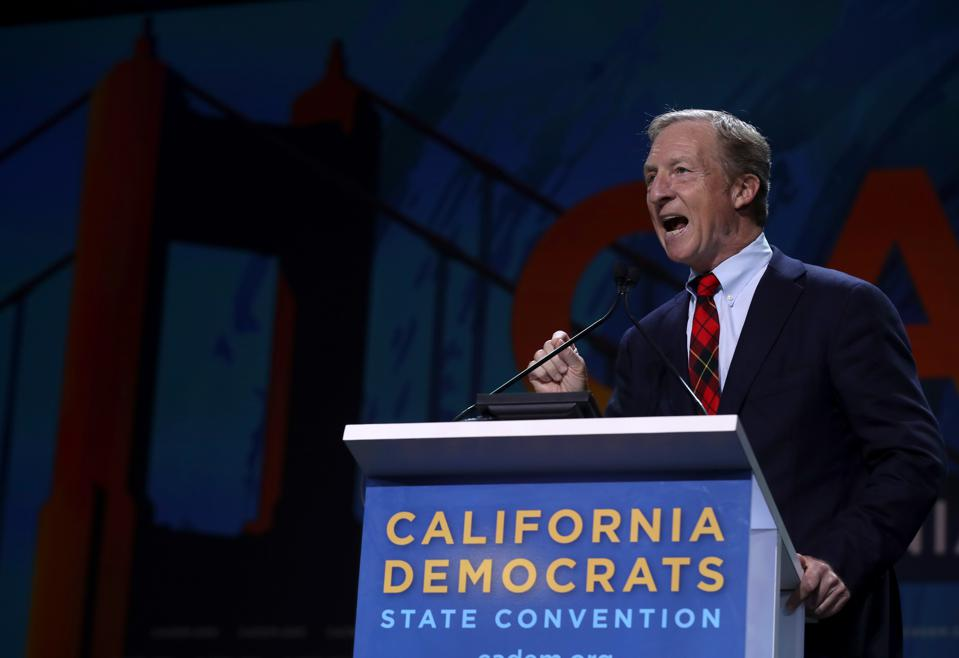 Forbes estimates Tom Steyer's net worth at around $1.6 billion.