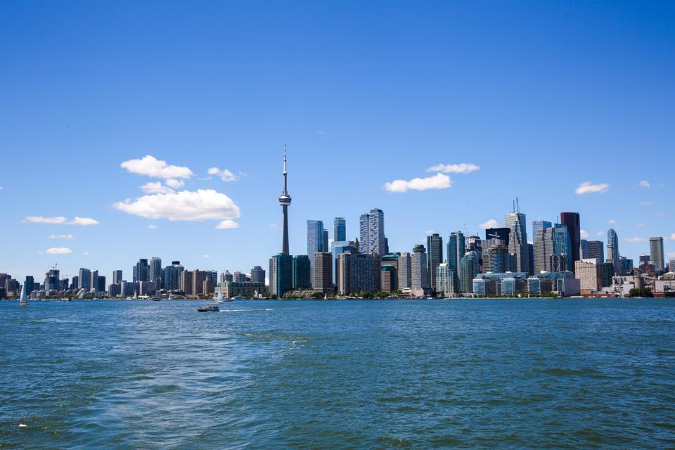Toronto skyline during a hot and sunny day... coronavirus virtual travel