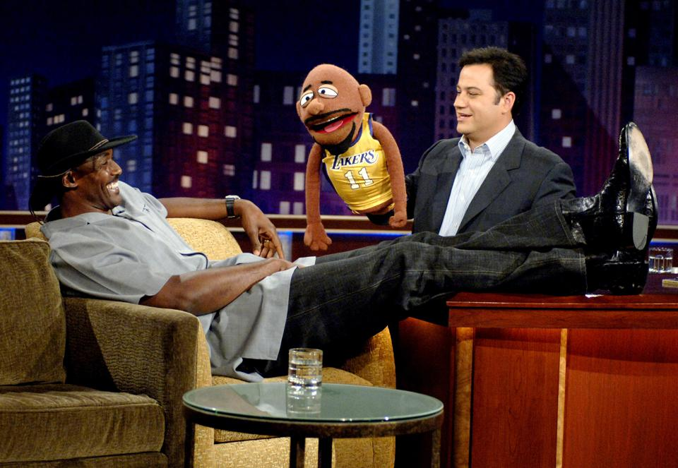 Karl Malone, Meinhardt Raabe and The Dan Band Visit ″Jimmy Kimmel Live″ - April 11, 2005