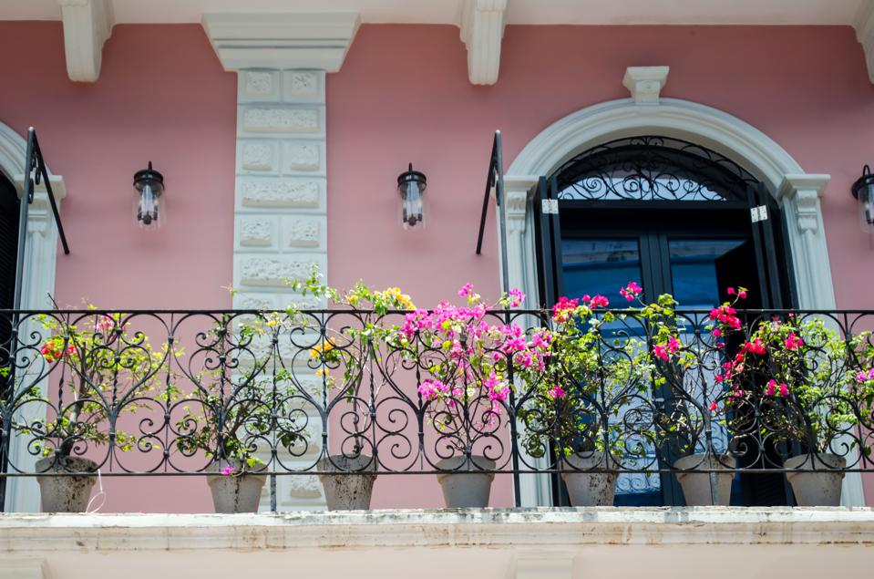 Balconies of Casco Viejo in Panama City