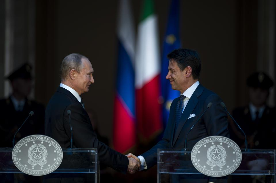Russia's President Putin Makes A State Visit To Italy