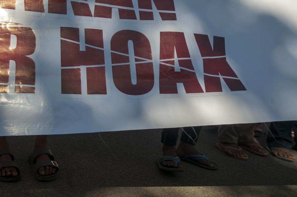 Anti Hoax Society Protest In Central Sulawesi