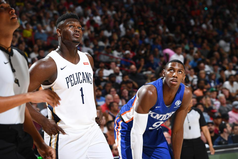 new style 6e384 9f057 Inside Zion Williamson's NBA Debut That Rocked Las Vegas ...