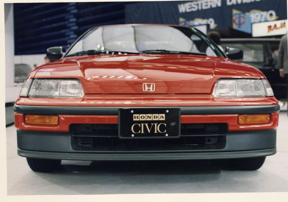 PHOTO of a 1989 Honda Civic CRX taken by Star Tribune photographer Donald Black in the March of 1989.(Photo by DONALD BLACK/Star Tribune via Getty Images)