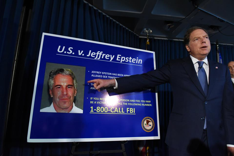 Geoffrey Berman, U.S. attorney for the Southern District of New York, spoke at a Monday press conference.