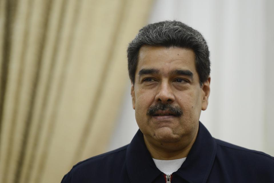 Nicolas Maduro President of Venezuela meets with EU special adviser for Venezuela Enrique Iglesias