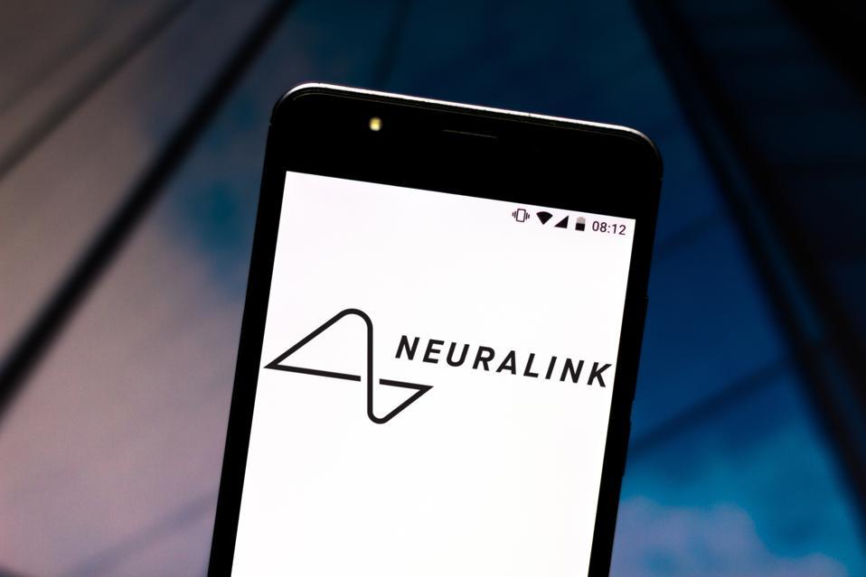 Neuralink logo displayed in a smartphone...