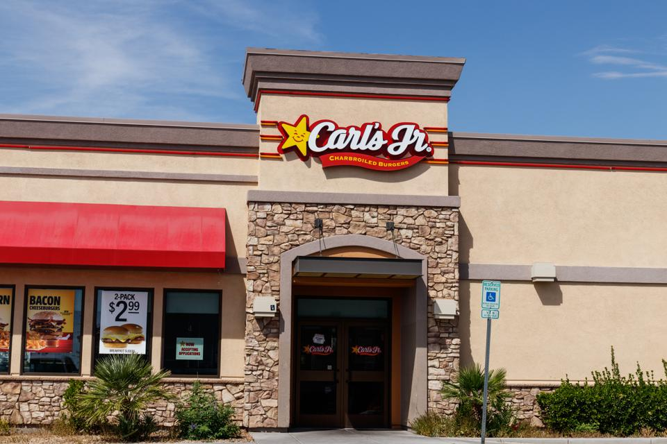 Carl's Jr. retail location. Hardee's and Carl's Jr. are subsidiaries of CKE Restaurants Holdings, Inc.