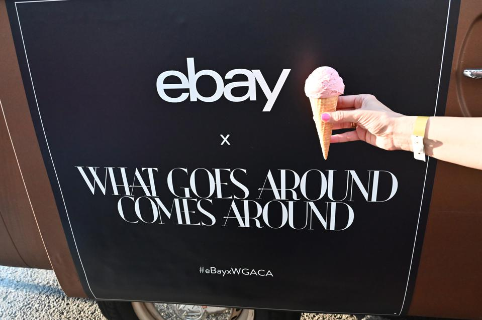 Van Leeuwan ice cream is served during the What Goes Around Comes Around X eBay partnership launch event on June 11, 2019 in New York City.