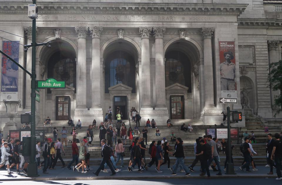 New York Public Library in New York City