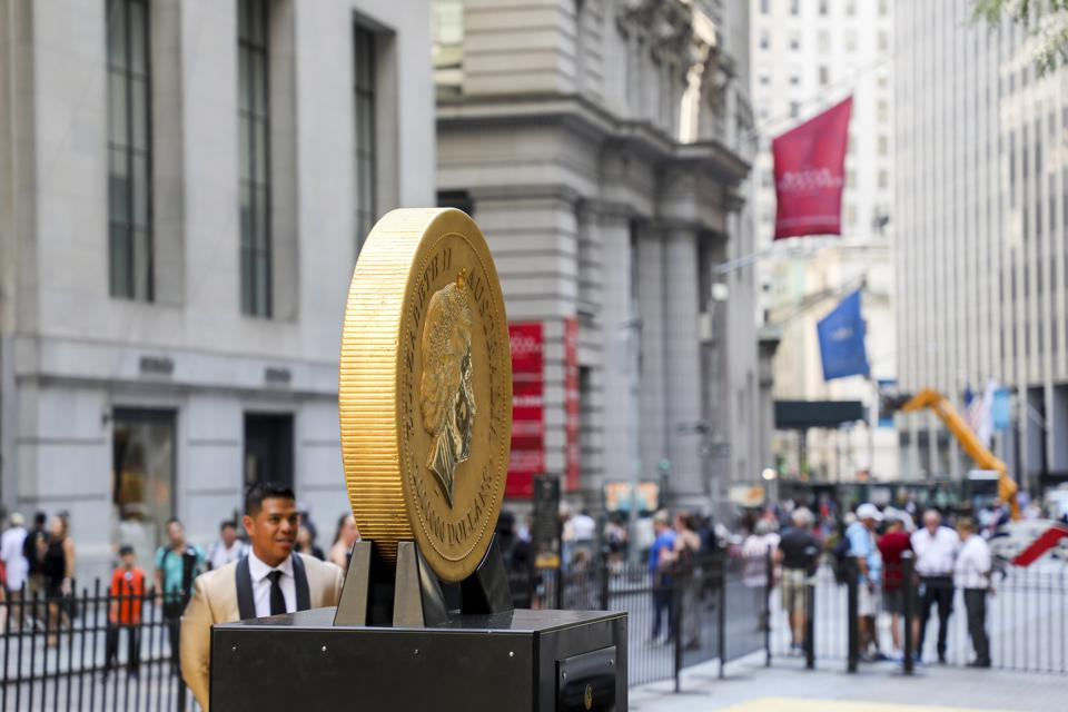 U.S.-NEW YORK-ONE TONNE GOLD COIN