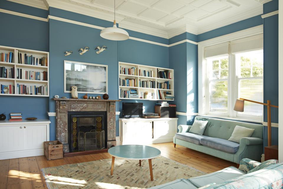 Decorated living room at home