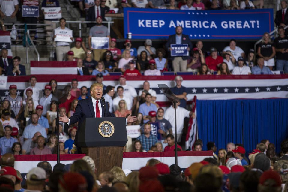 Donald Trump Holds ″Keep America Great″ Rally In Greenville, NC