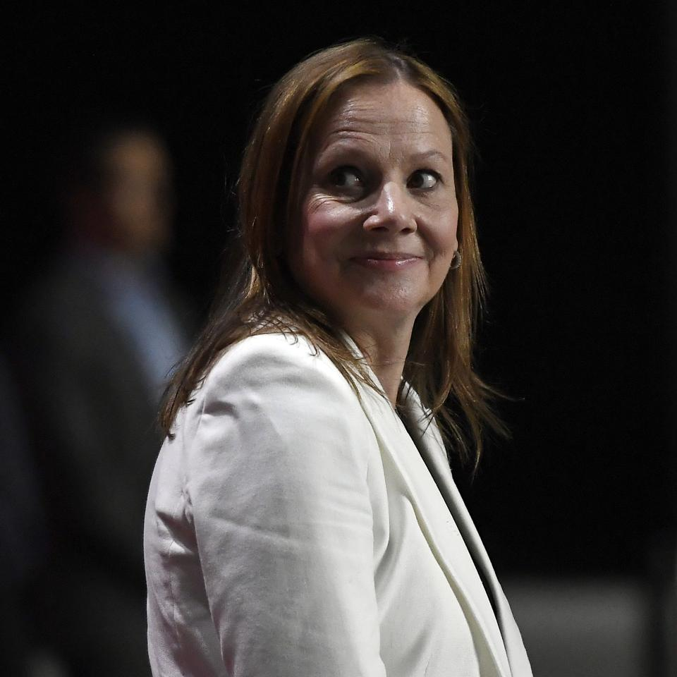 Mary Teresa Barra , Chairwoman and CEO of General Motors Company (Photo by Kevork Djansezian/Getty Images)