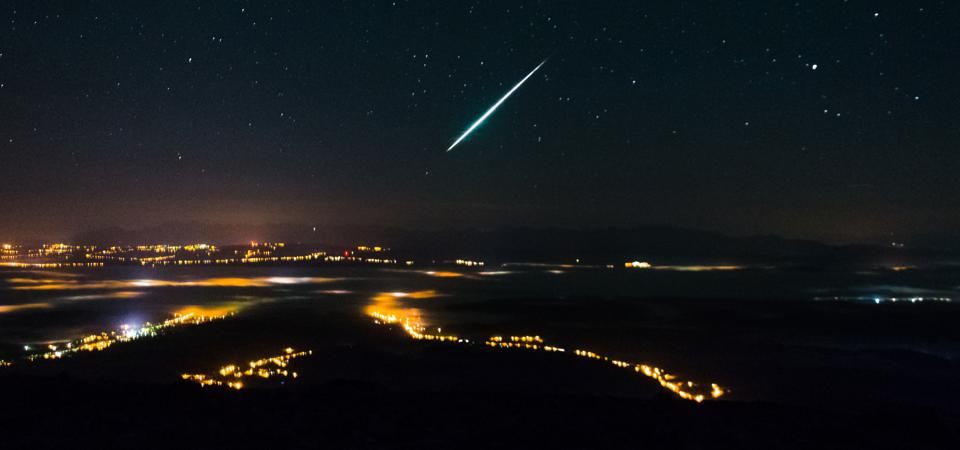 The Lyrids meteor shower is famous for fireballs ... here's hoping.