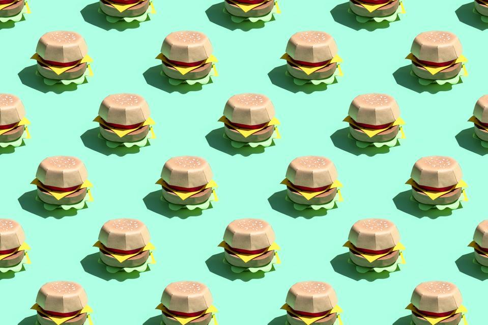 Pattern of paper hamburger