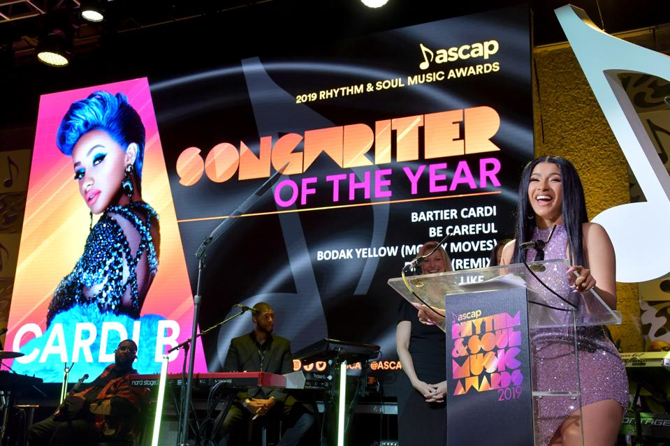 Cardi B Takes Home ASCAP Songwriter Of The Year Award