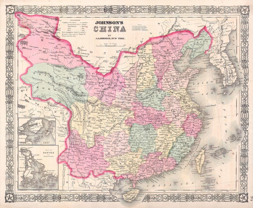 Johnson Map of China and Taiwan