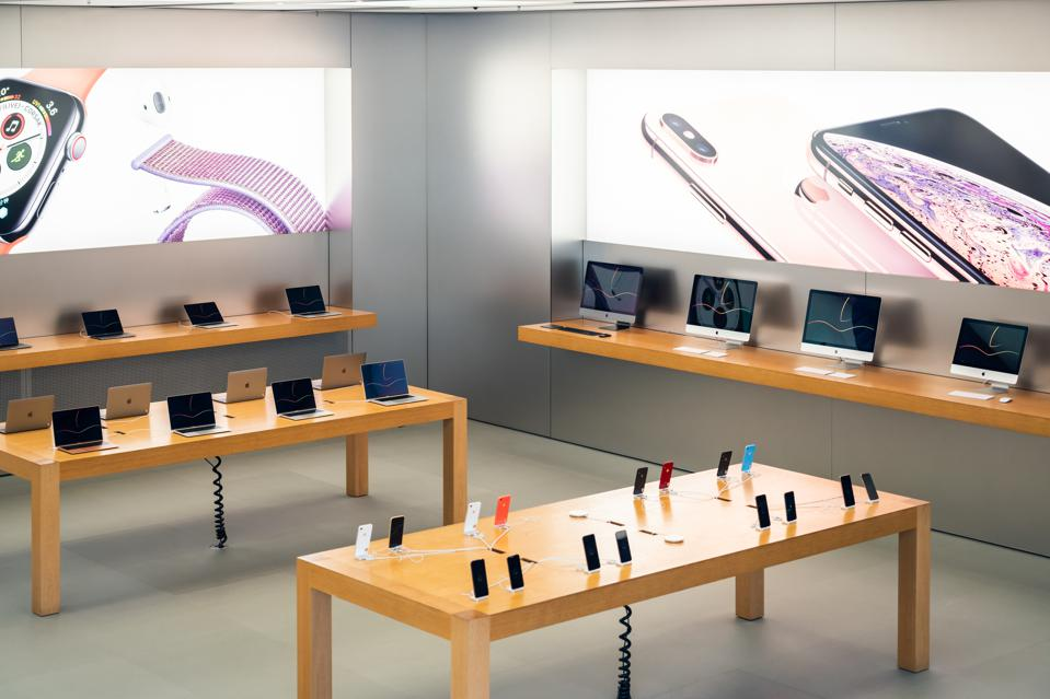 American multinational technology company Apple retail store...