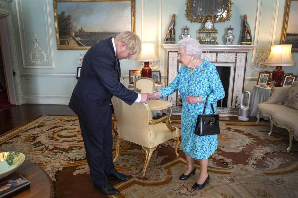Queen Receives Outgoing and Incoming Prime Ministers