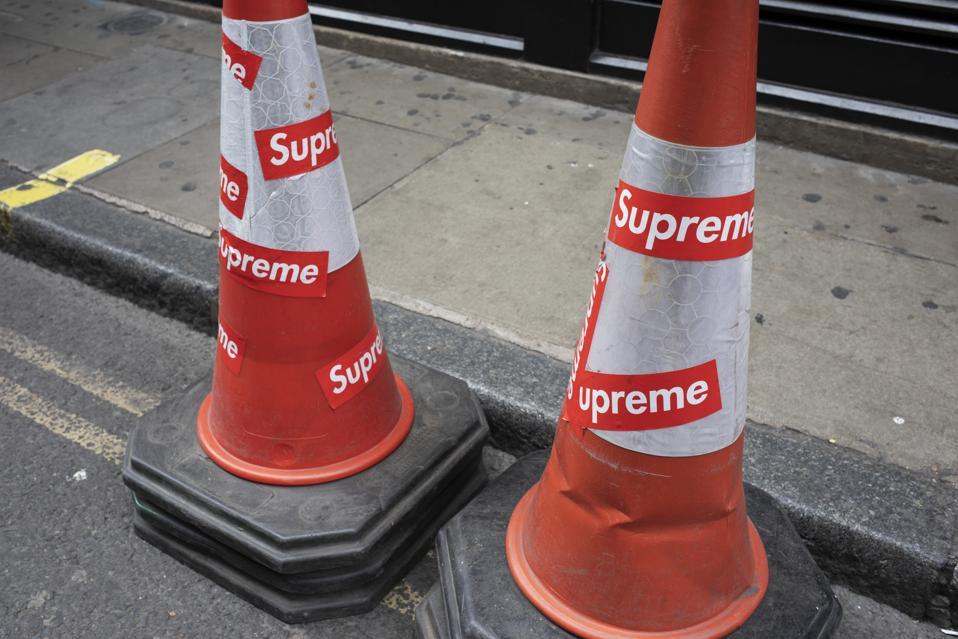 Fashion Label Supreme In London
