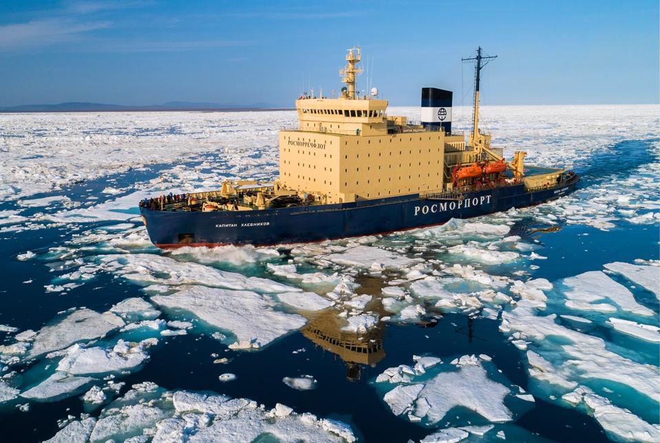 Kapitan Khlebnikov Russian icebreaker opens cruise season in Chukotka