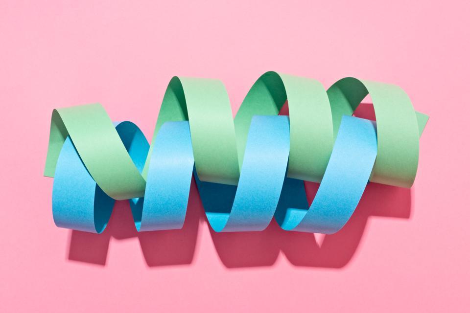 Twisted Paper Stripe Helix