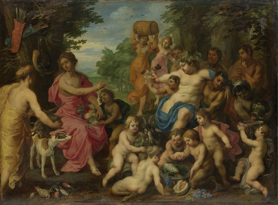 Bacchus and Diana