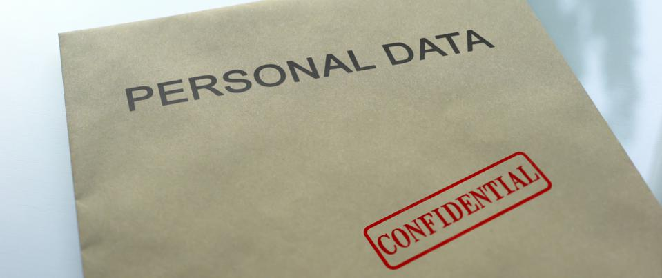 Personal data confidential, seal stamped on folder with important documents