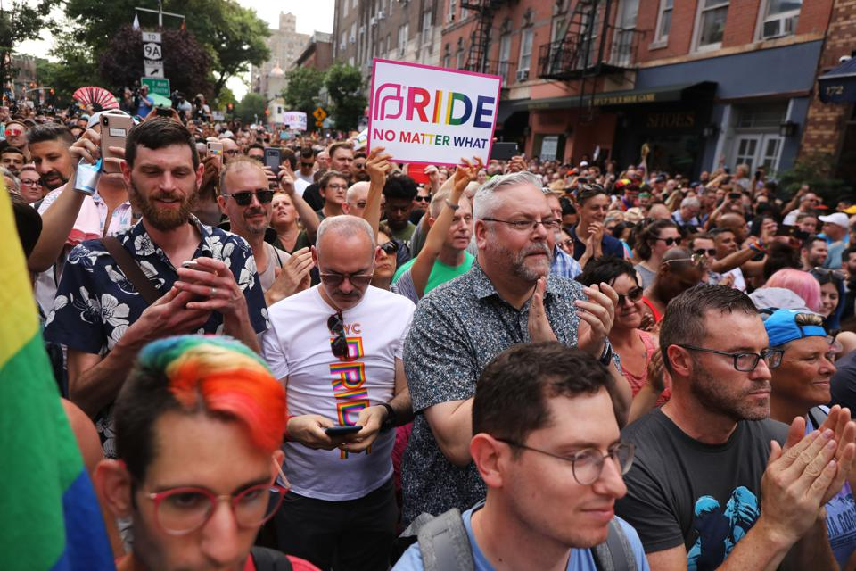 Rally In New York City  Commemorates 50th Anniversary Of Stonewall Uprising