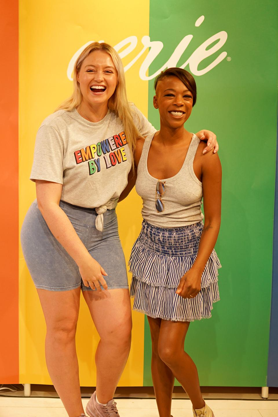 #AerieREAL Role Model, Samira Wiley, Joins Nico Tortorella And Creators Coco & Breezy For Pride Celebration At American Eagle's Be You Studio