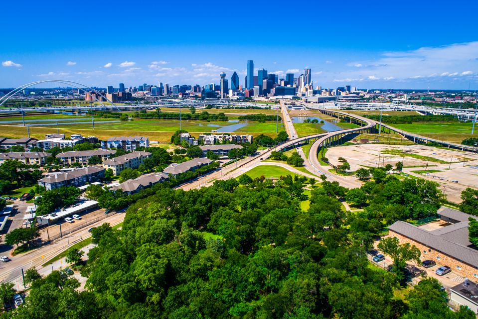 Downtown Skyline Cityscape Dallas Texas