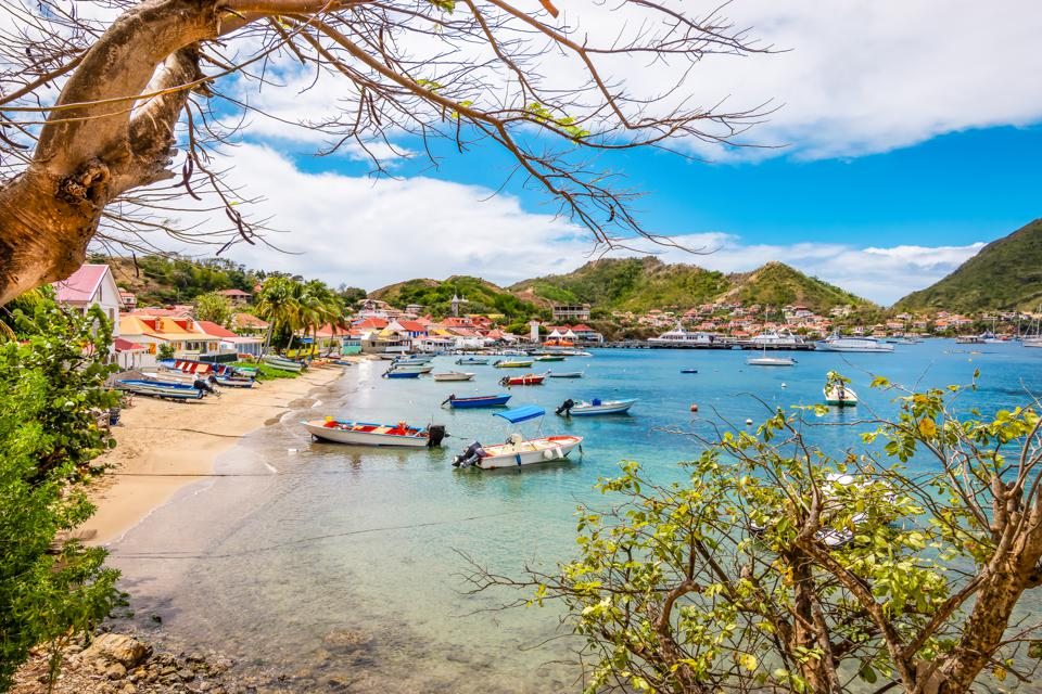 Beach on the bay Des Saintes, Terre-de-Haut, Guadeloupe.