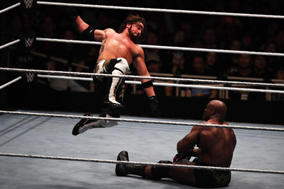 WWE star AJ Styles attacks Bobby Lashley