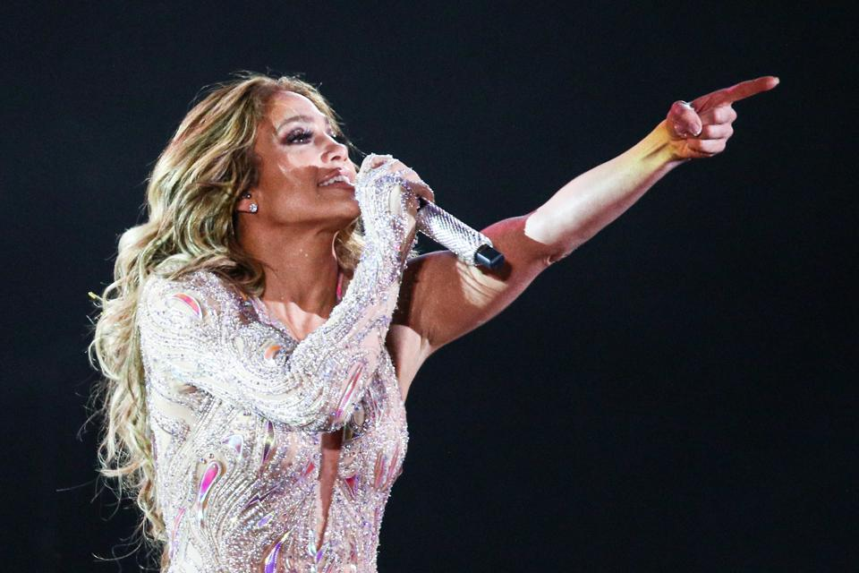 American singer Jennifer Lopez gives concert in Moscow