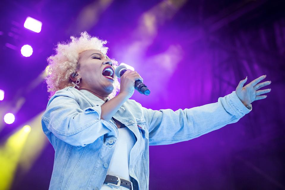 British singer and songwriter Emeli Sande performs on the...