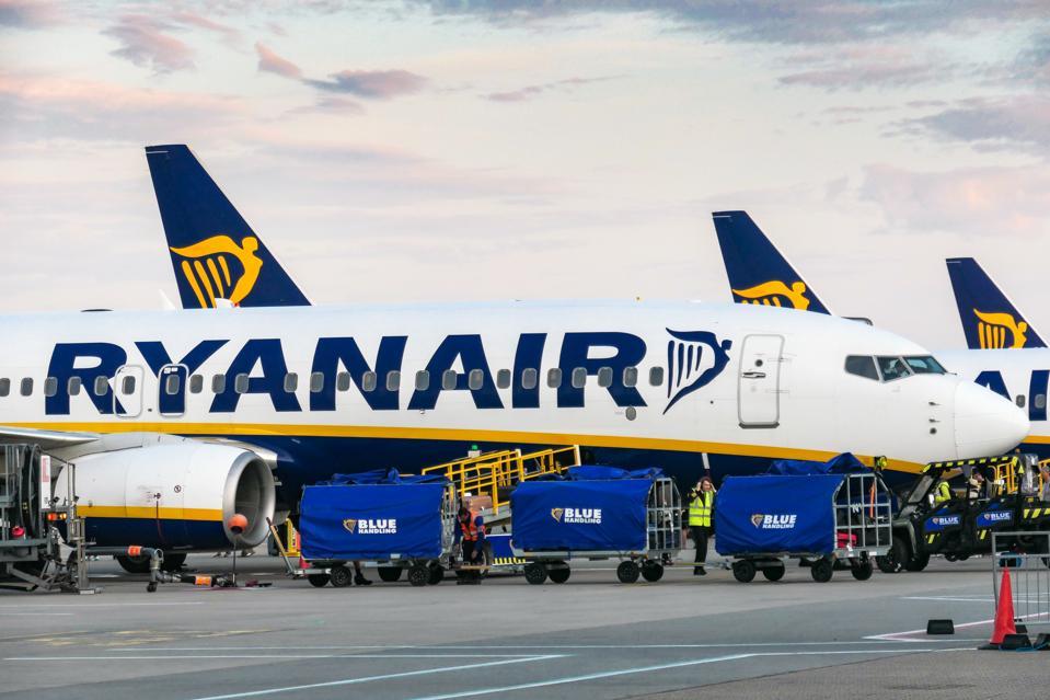 Ryanair planes In London