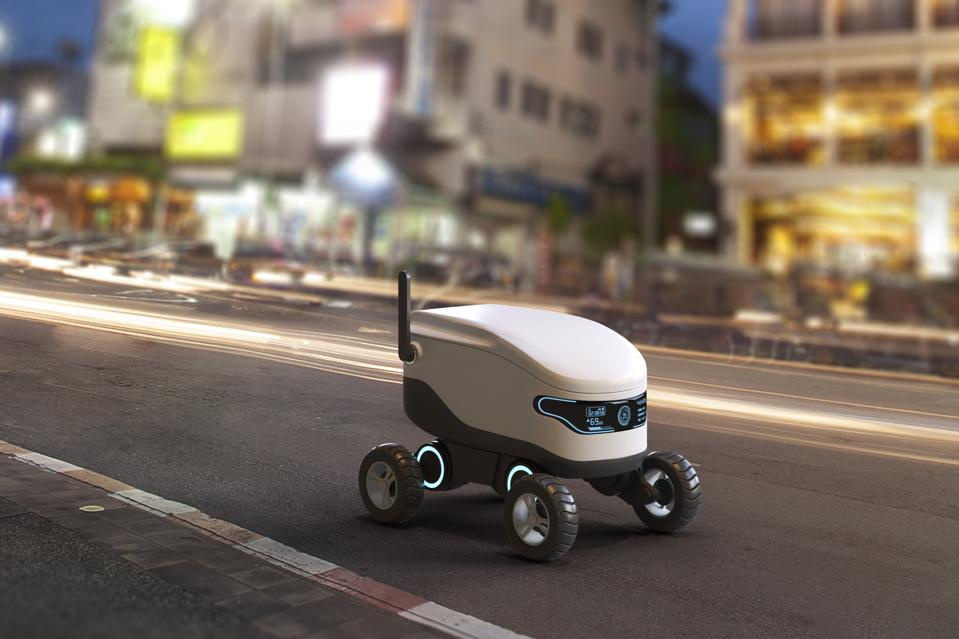 Self-driving delivery robot concept