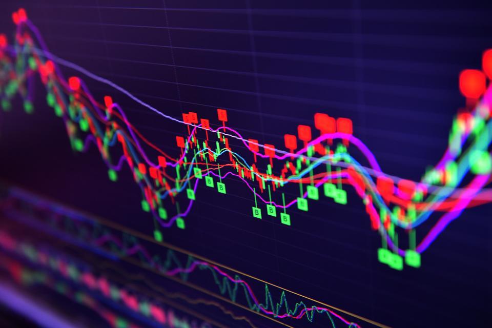Stock market on screen