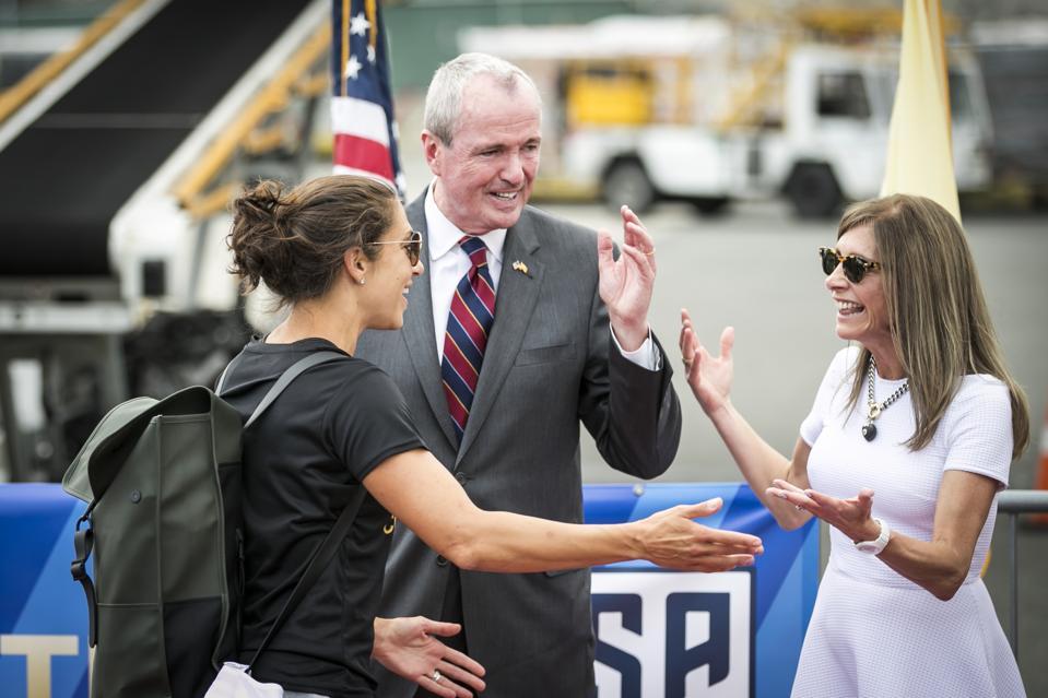 U.S. Women's World Cup Champions Arrival at Newark Liberty International Airport