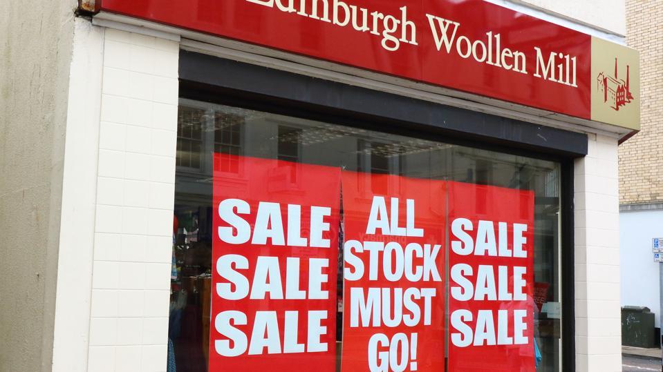 The Edinburgh Woollen Mill store seen on the high street in...