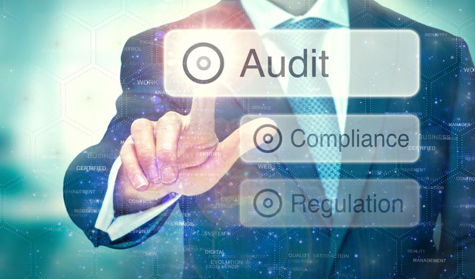 Audit concept on a computer display.