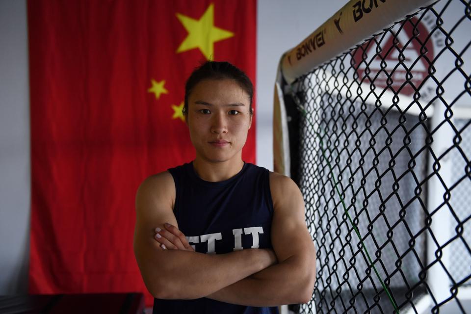 MMA-UFC-CHN-CHINA-ZHANG-WOMEN