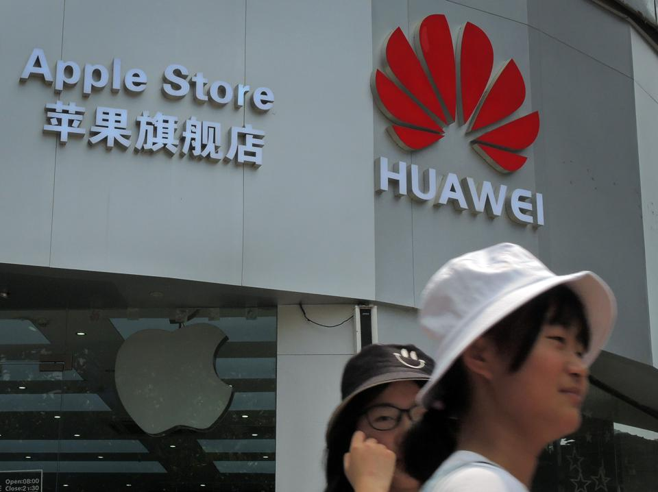 Huawei And Apple Symbols