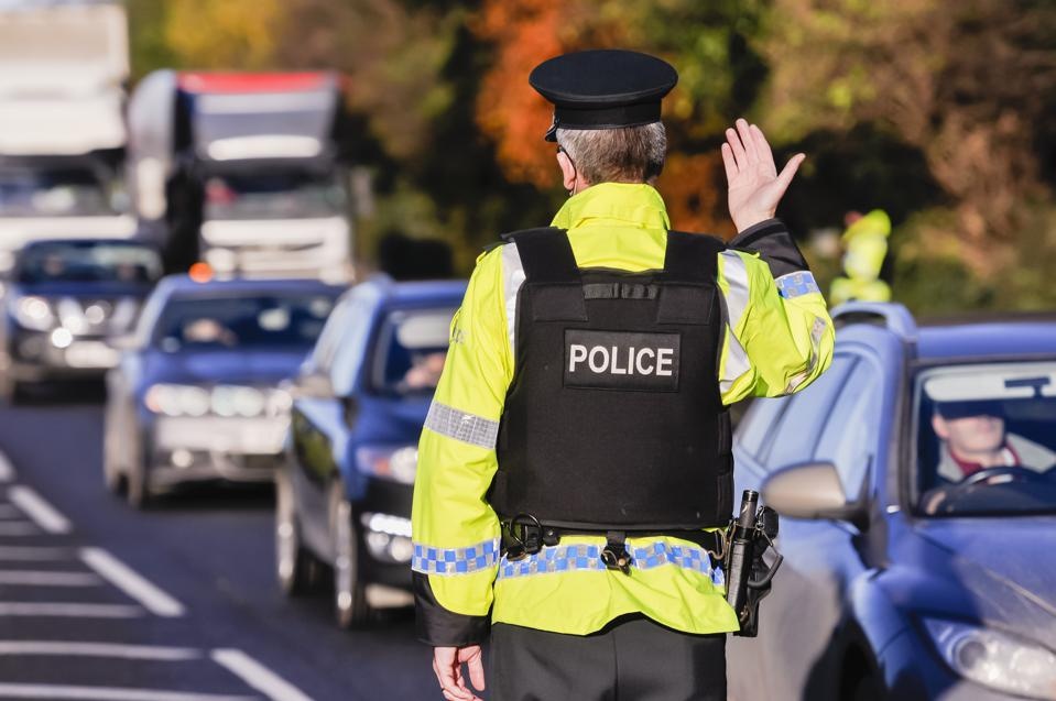 PSNI announce new powers to randomly stop drivers and perform drink driving breathalyser tests, Northern Ireland.