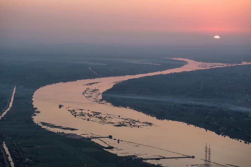 The Nile River Sunrise of Egypt