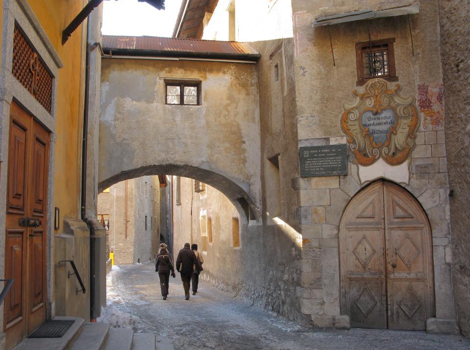 Street. Historical centre. Bormio. Lombardy. Italy. Europe