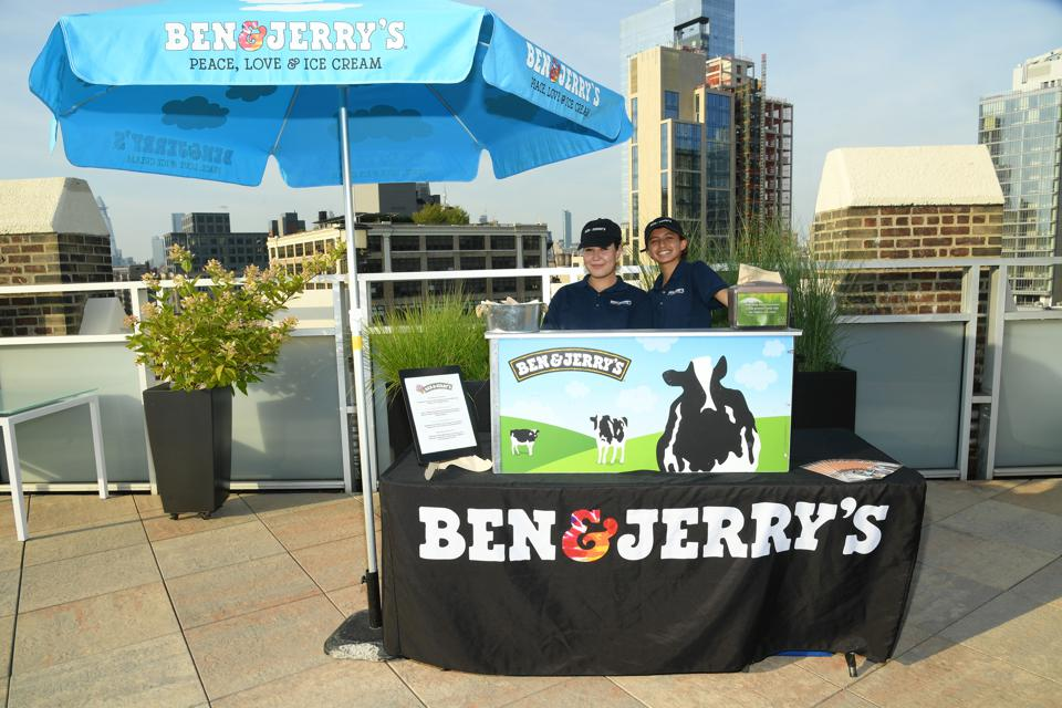 Ben & Jerry's stand at GenR Force For Change Summer Party in New York City in 2019