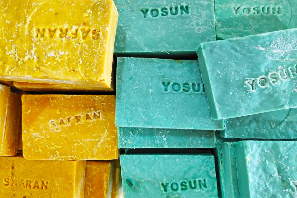 Stack of Turkish soaps